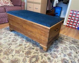 vintage blanket chest