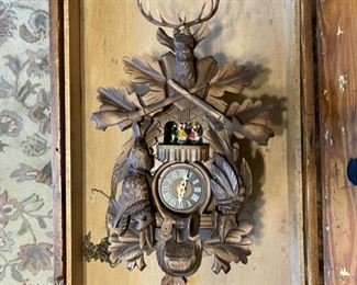 Black Forest cuckoo clock (weights not shown)