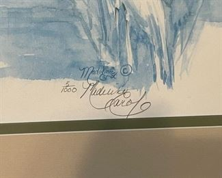 "signed ""Madeline Carol"" lithograph"
