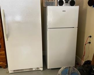 Kenmore freezer, Hotpoint refrigerator