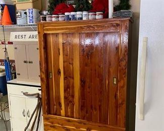 vintage red cedar wardrobe