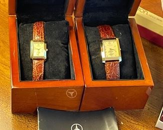Mercedes Benz his & her watches