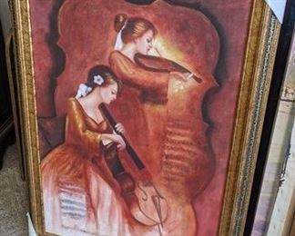 8510- 2 Ladies Playing Instruments