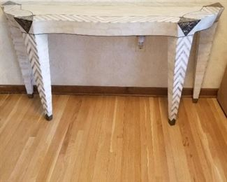 tessellated marble sofa or foyer table