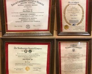 https://www.ebay.com/itm/114791775435CC7001 Alton Ochsner Jr. Certification Awards Lot (4 pieces)Buy-It-Now $100.00