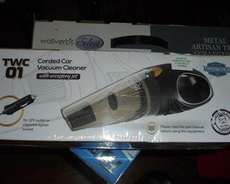 NIB TWC 01 corded car vacuum w/accessory kit