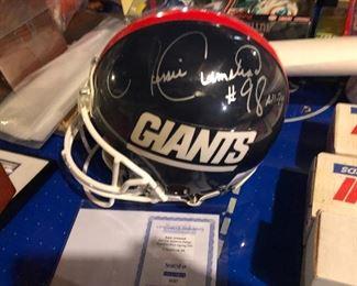 Jessie Armstead Signed NY Giants Helmut  w/ COA