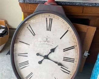 """Huge Pier 1 Imports Clock Great condition. 38"""" tall x 21"""" wide x 4"""" deep."""