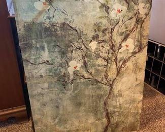 "World Market Canvas Art Like new condition 39 1/2"" x 30"""