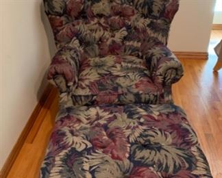 SEALY Chair and Ottoman