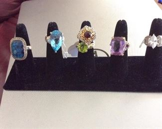 sterling silver rings    No valuables will be left on premise overnight