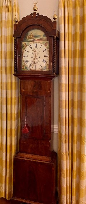 Early-Mid 19th C. Case Clock by Hancock & Cox. Superb condition.
