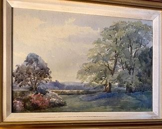 """Measures 12.5""""x14.5"""" Watercolor, not signed."""