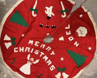 Vintage Felt Christmas Tree Skirt