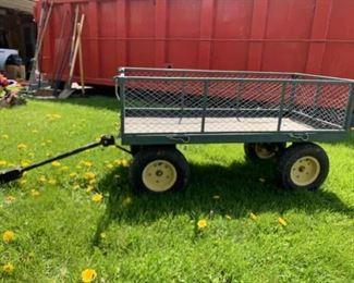 Metal Yard Cart Lawn Cart Tractor Cart