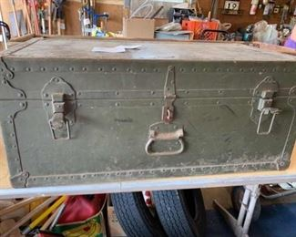 Purves Manufacturing 1948 Military Steamer Trunk