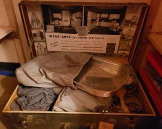 Wear-Ever aluminum salesman trunk