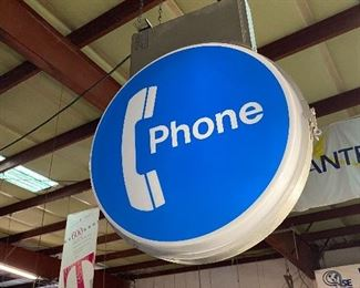 Dual sided Illuminated Public Phone Booth Sign