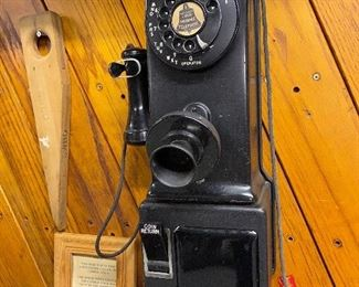 Antique pay telephone
