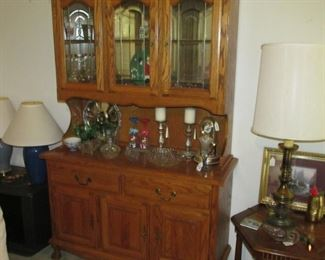 Mirrored China Cabinet with Beveled Glass