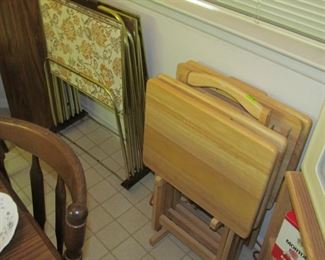 Vintage TV Trays &  Wooden TV Trays