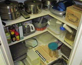 Vintage Appliances, Pots and Pans, Tupperware