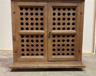 Rustic Cabinet with Islamic Star lattice
