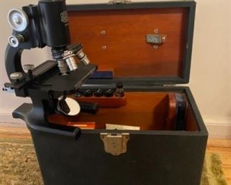 Old Spencer Microscope with Case