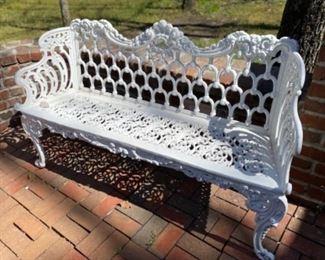 Old Iron Garden Bench