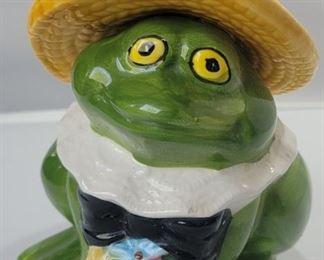 Vintage Frog Planter