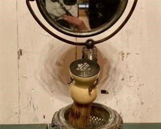 Antique Silver-plate  Shaving Mirror