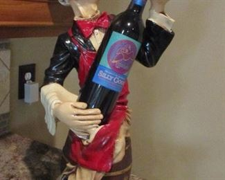 wine bottle holder snooty server