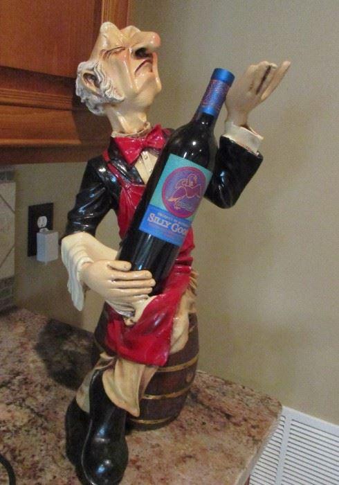 wine bottle holder snooty server