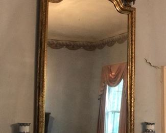 Large French Mantle Mirror