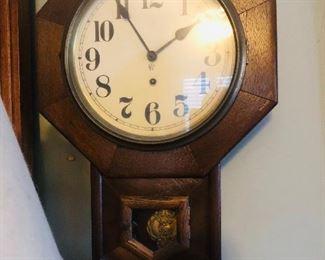 Waterbury clock co 1854-1944  8 day 10 inch drop Octagon clock