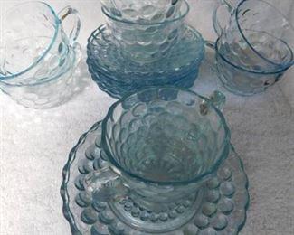 Clear Bubble Glass (14 pieces)