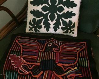 Hawaiian style pillows.