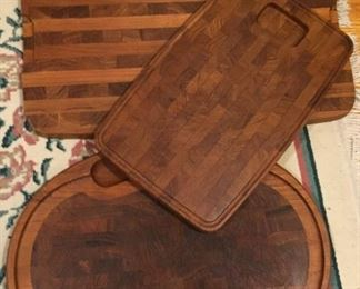 Wooden trays.