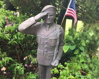 Military Soldier Garden Ornament.