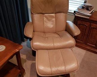 Rare Ekornes Chair and Ottoman