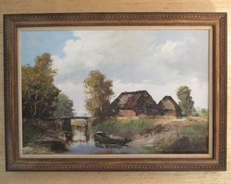 SIGNED OIL PAINTING BY LISTED ARTIST
