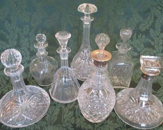 CRYSTAL DECANTER COLLECTION
