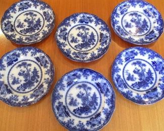 ANTIQUE FLOW BLUE PLATES