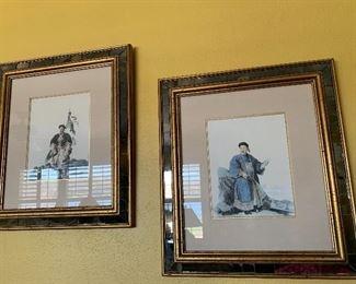 $75 Pair Asian Prints