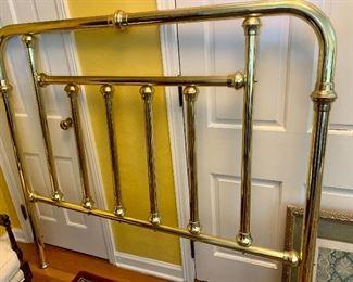 Heavy Brass Headboard $150