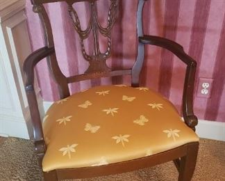 Close-up of vintage arm chair