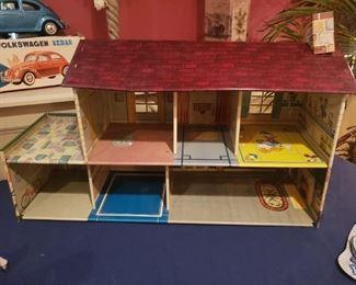 Vintage Disney Marx Tin Doll House