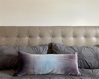 Item 44:  Grey Ruched Duvet with Two King Shams: $95