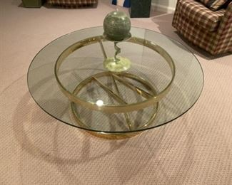 Beautiful glass top coffee table
