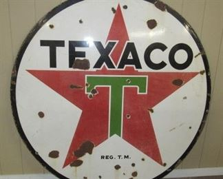 6' Porcelain Texaco Sign - Double Sided